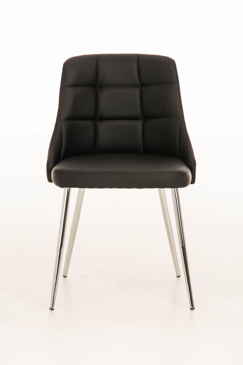 Lote 2 sillas de comedor o cocina harrison en piel negro for Sillas de piel para comedor