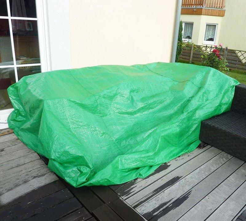 Lona verde para muebles de jardín, 300x185x70 cm - Lona cubierta ...
