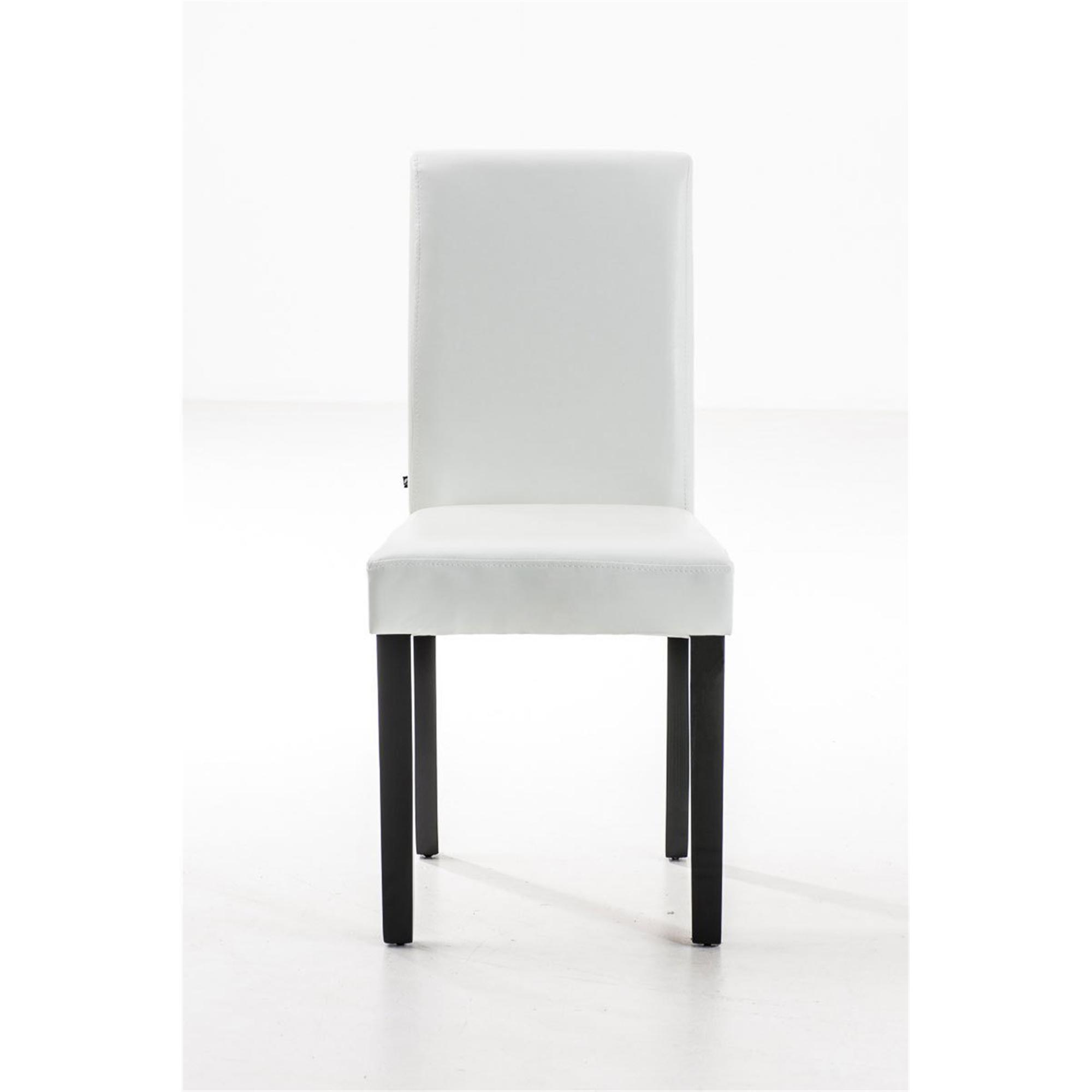 Lote de 2 sillas de comedor capri muy c modas y robustas for Sillas de piel blancas