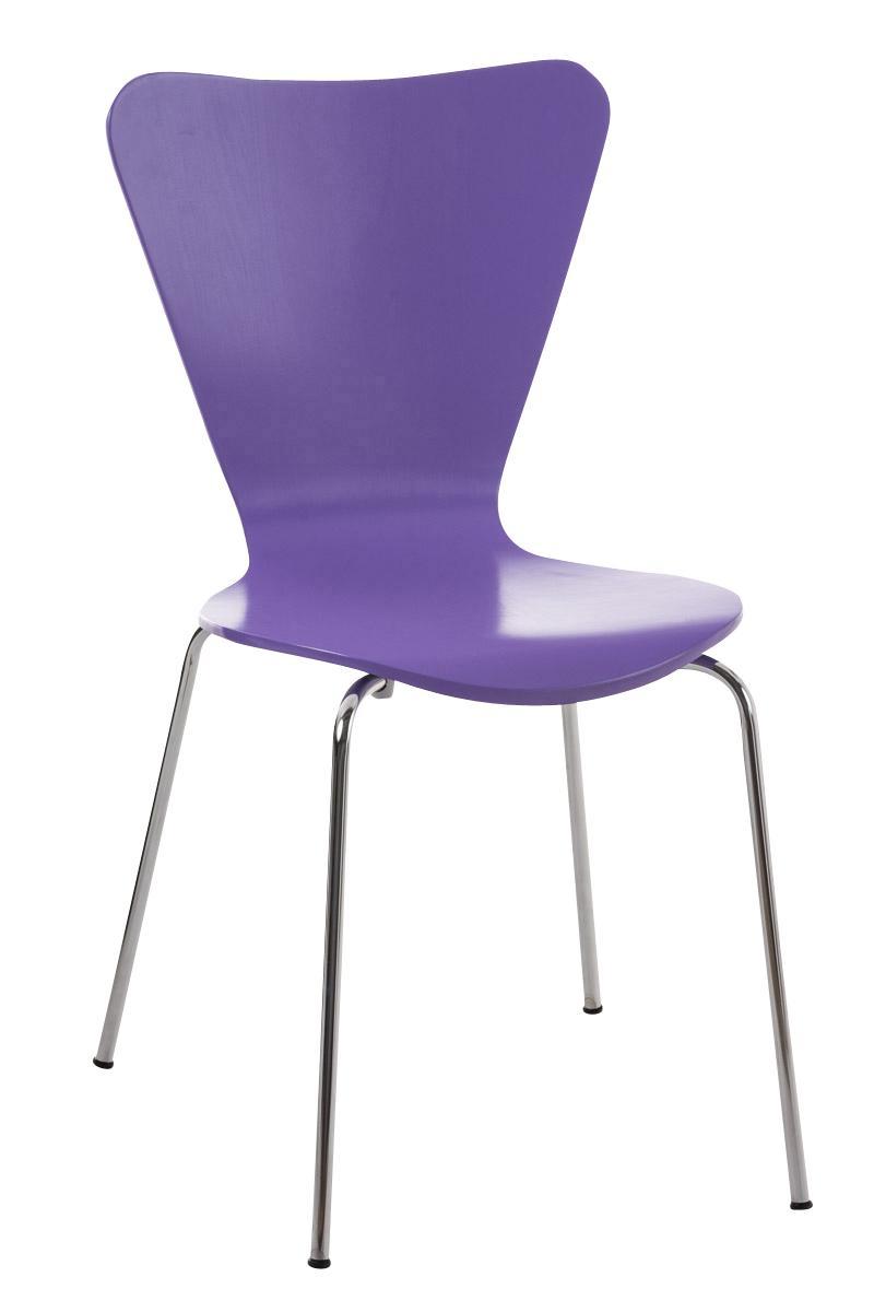 Lote 4 sillas de cocina o comedor lerma en morado lote 4 for Sillas apilables comedor
