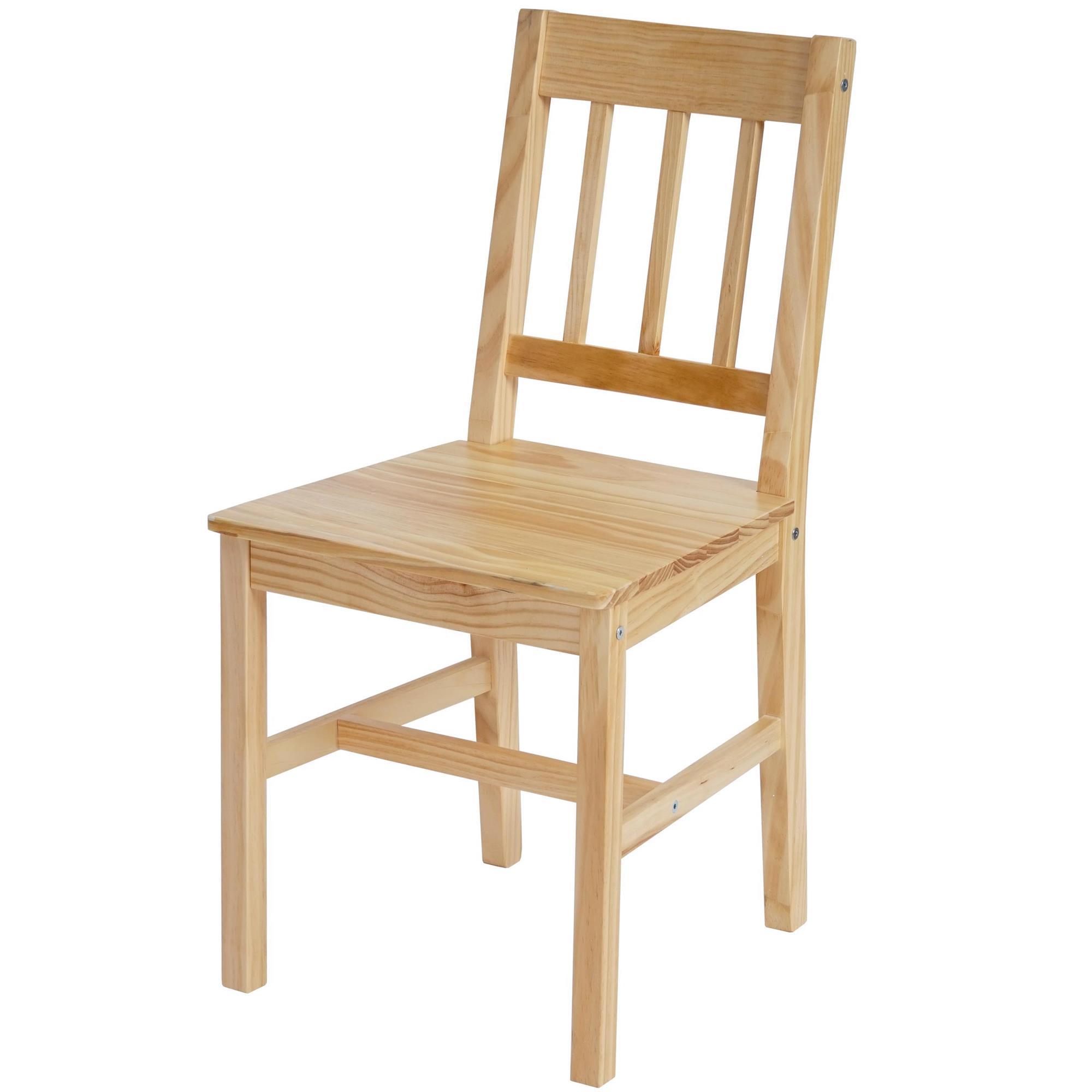 Lote 4 sillas de cocina o comedor nerja en marr n haya for Comedor de madera 4 sillas