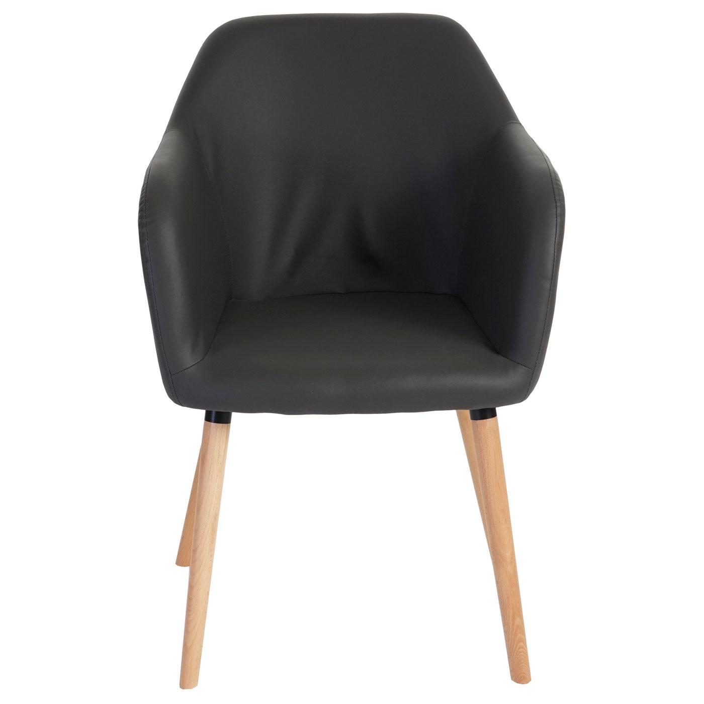 Lote de 6 sillas de comedor tulio tapizadas en piel color for Sillas de comedor tapizadas en gris