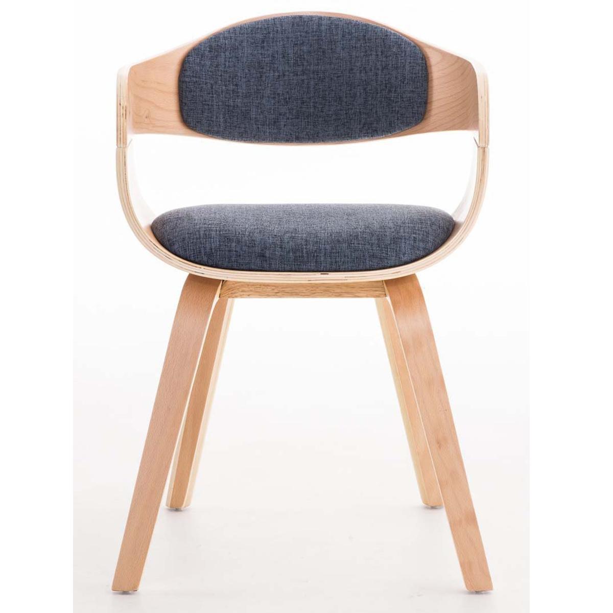 Conjunto de 4 sillas de comedor bolonia tapizadas en tela for Sillas de madera tapizadas en tela