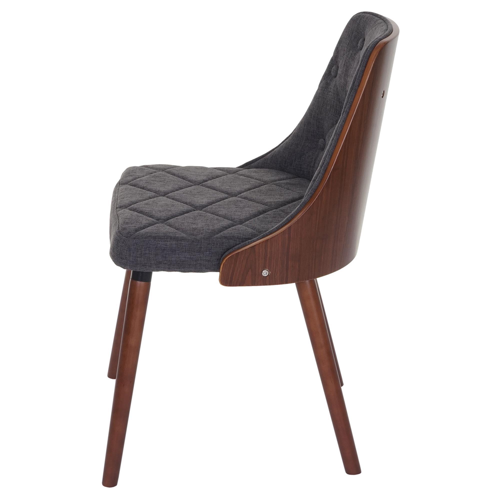 Lote 4 sillas de comedor baley tela en color gris conjunto 4 sillas de comedor baley tela for Comedor 4 sillas madera