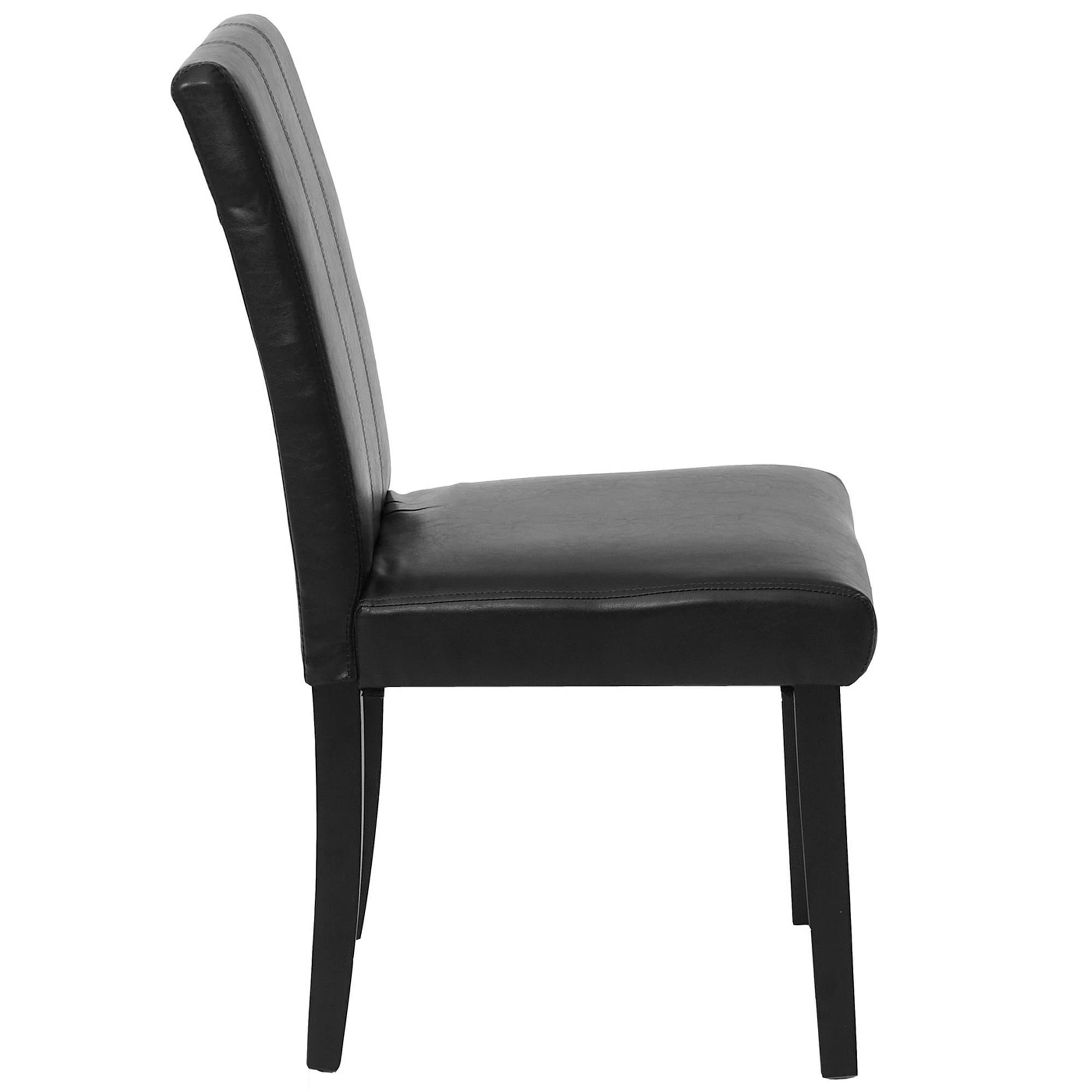 Lote 4 sillas comedor toper en piel negra con costuras lote 4 sillas de comedor toper piel - Sillas comedor piel ...