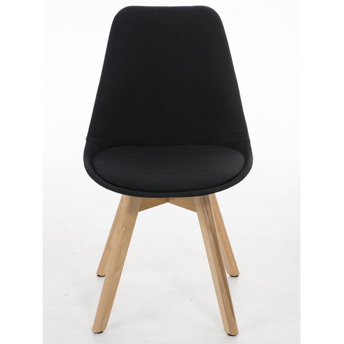 Conjunto de 6 sillas de comedor loren tela color negro y for Sillas para comedor tapizadas en tela