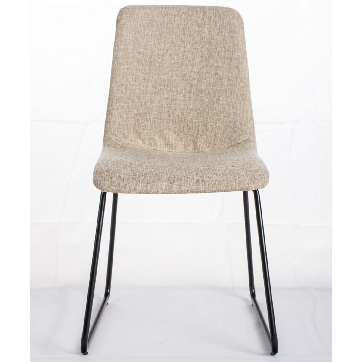 Conjunto de 6 sillas de comedor marina color crema y for Sillas metalicas para comedor