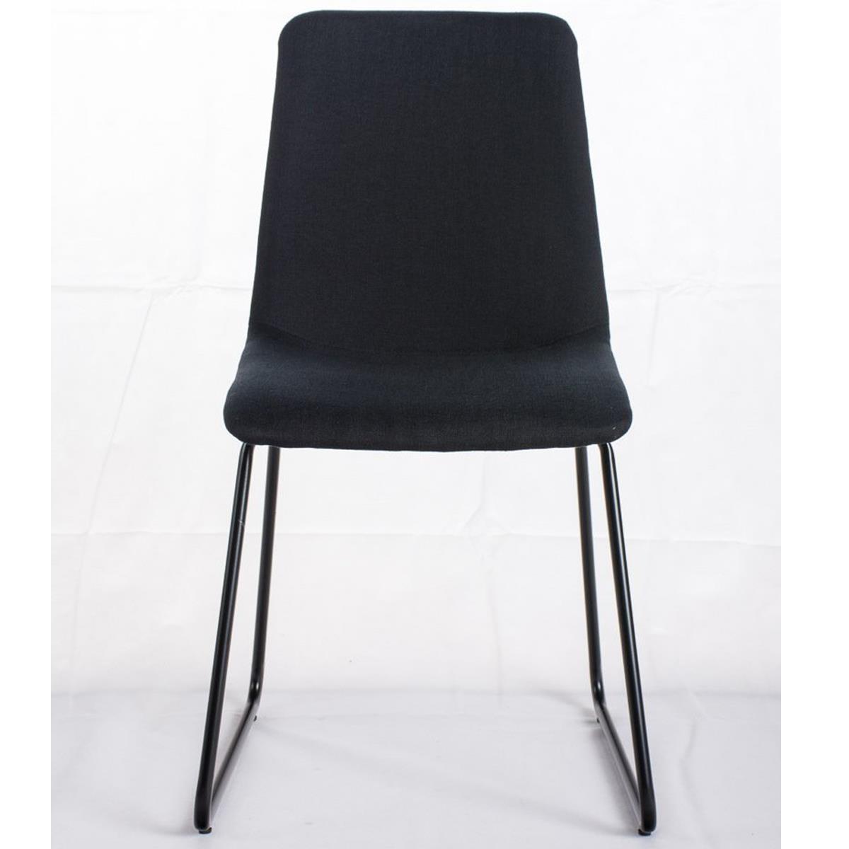 Conjunto de 4 sillas de comedor marina color negro y for Sillas comedor patas metalicas
