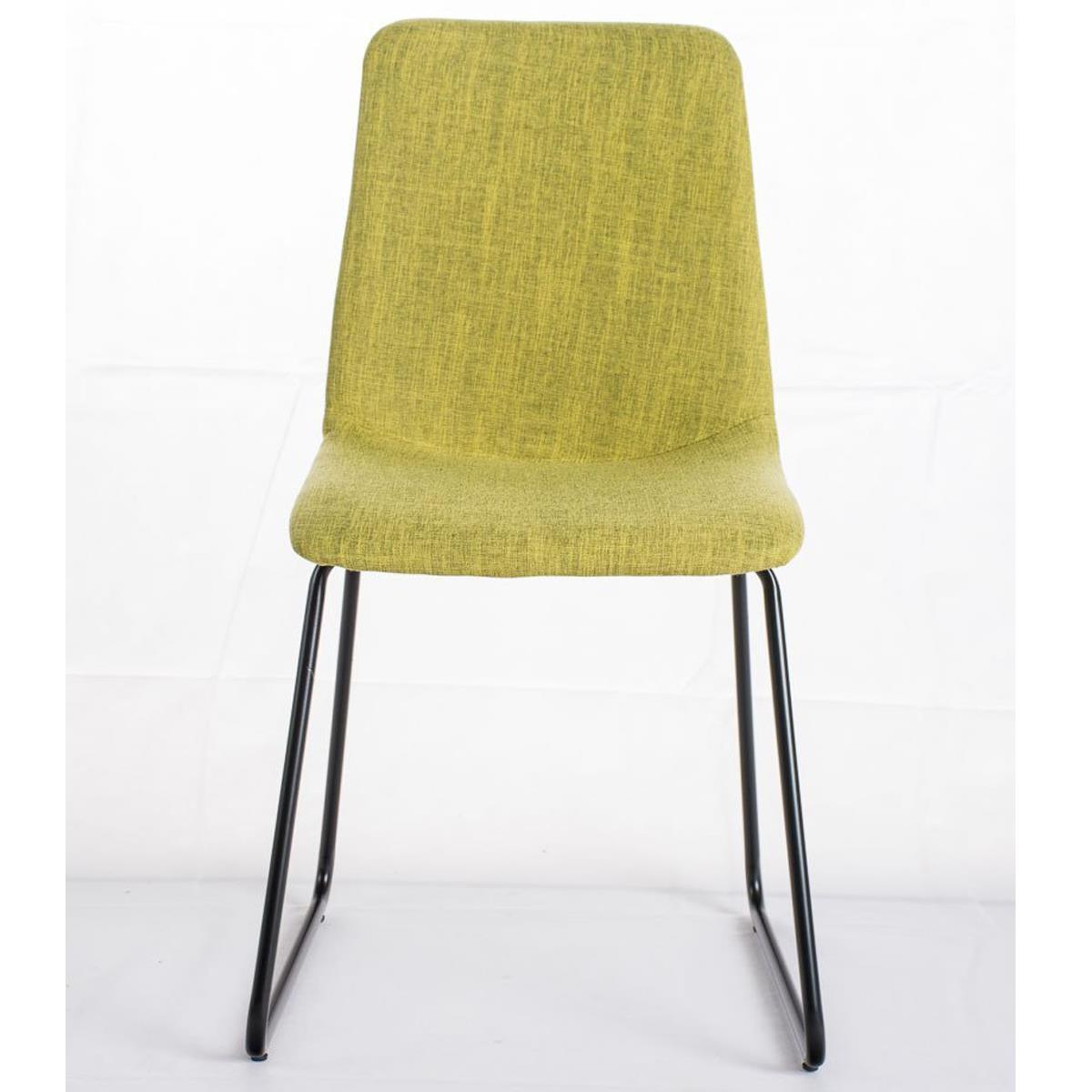 Conjunto de 6 sillas de comedor marina color verde y for Sillas comedor patas metalicas