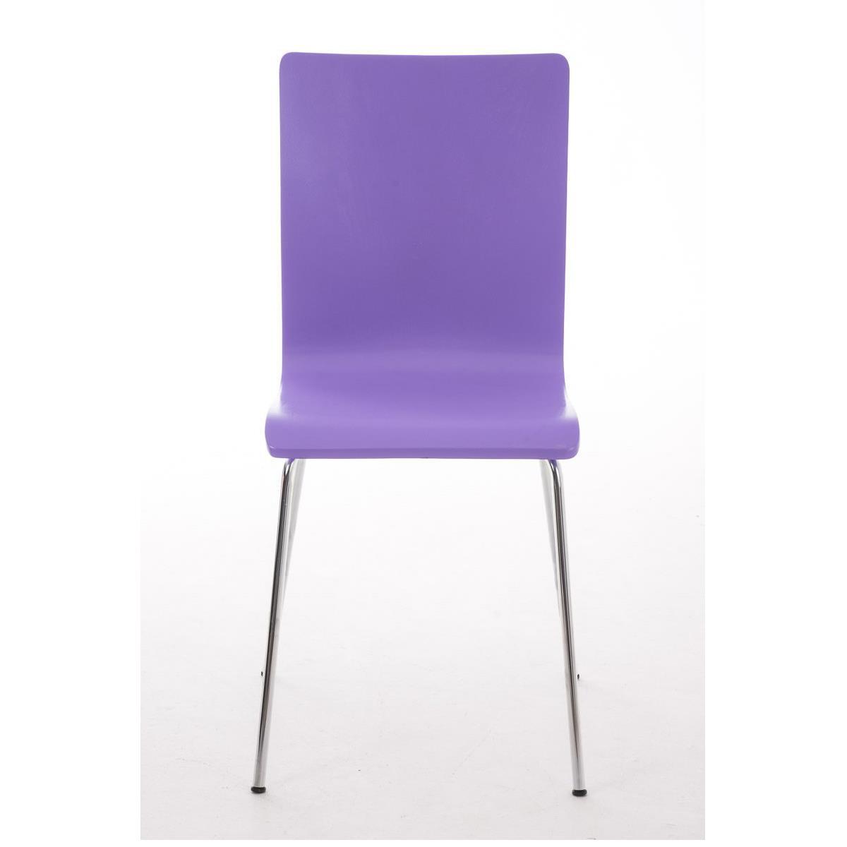 Silla de cocina o comedor lodi en color lila silla de for Sillas comedor patas metalicas