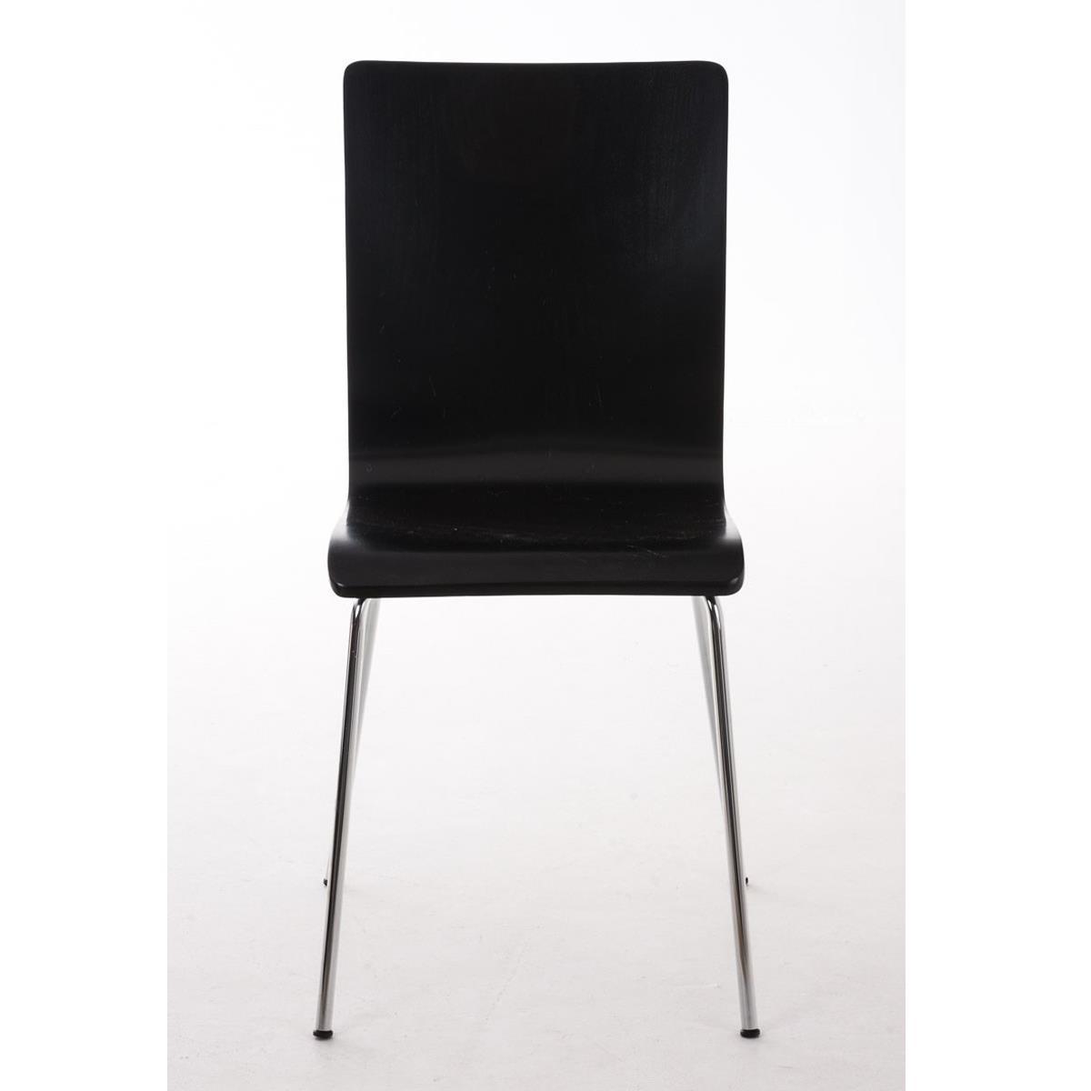 Silla de cocina o comedor lodi en color negro silla de for Sillas metalicas para cocina