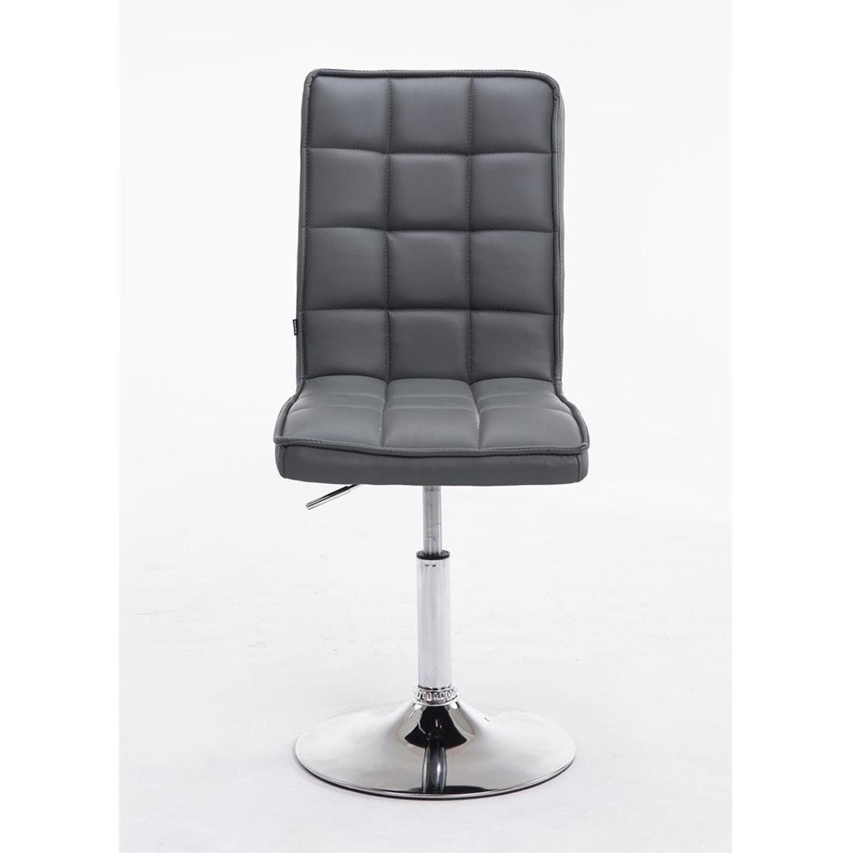 Conjunto de 6 sillas de comedor o cocina osuna piel en for Sillas de comedor tapizadas en gris