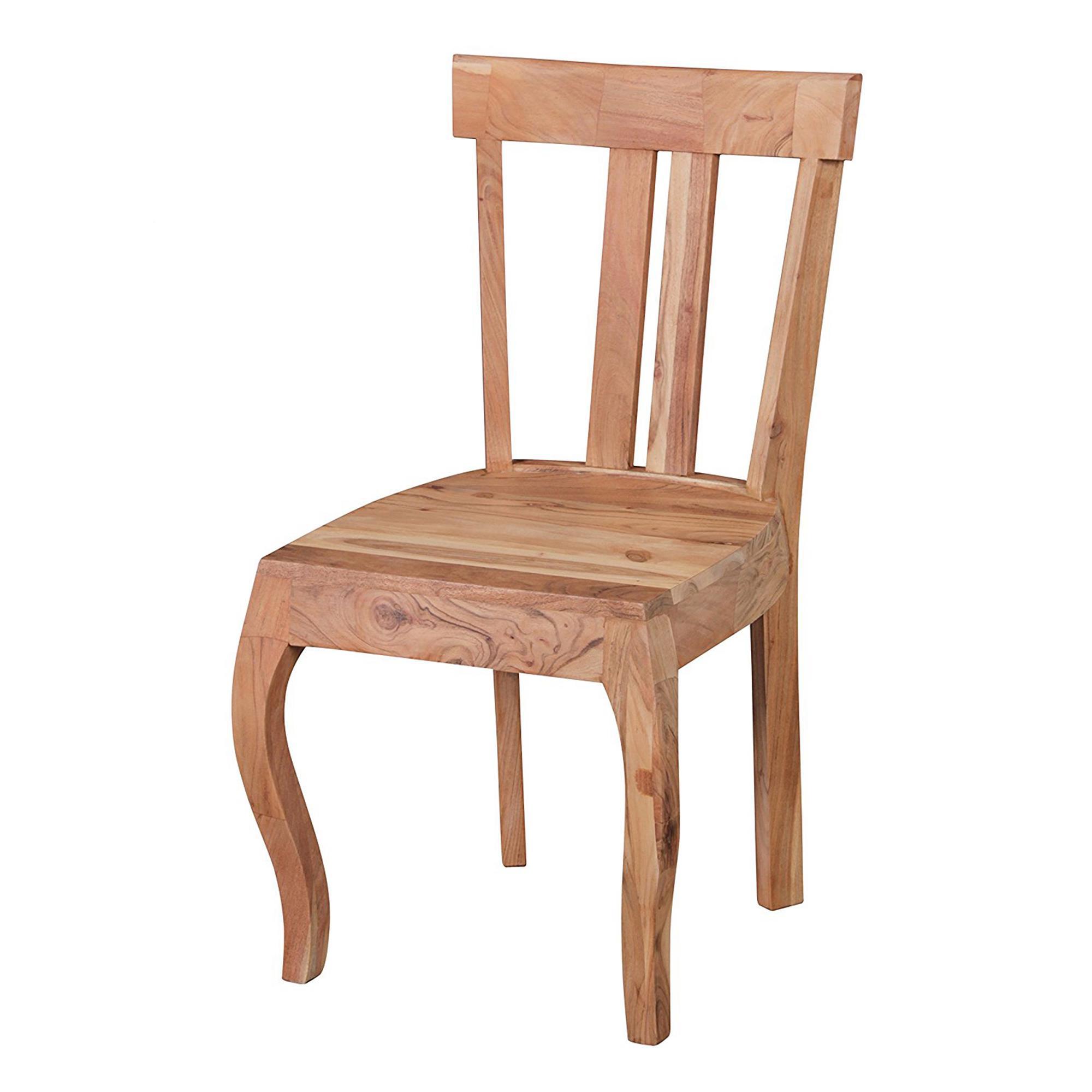 Conjunto 4 sillas de comedor ronda madera de acacia for Conjunto sillas comedor