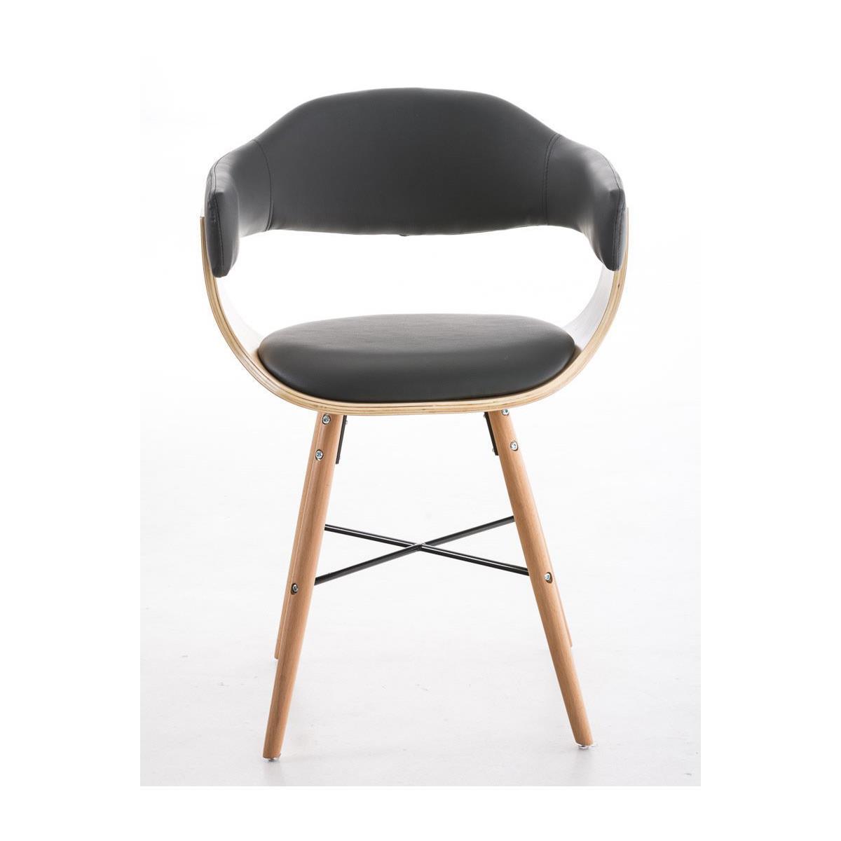 Conjunto de 4 sillas de comedor albatros piel en color for Comedor de madera 4 sillas