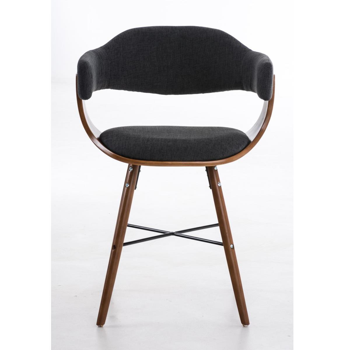 Conjunto de 4 sillas de comedor albatros en tela color for Sillas grises para comedor