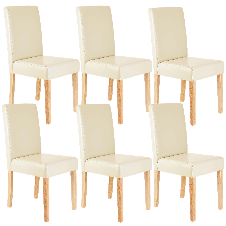 Conjunto de seis sillas cocina o comedor litau gran - Sillas comedor piel ...