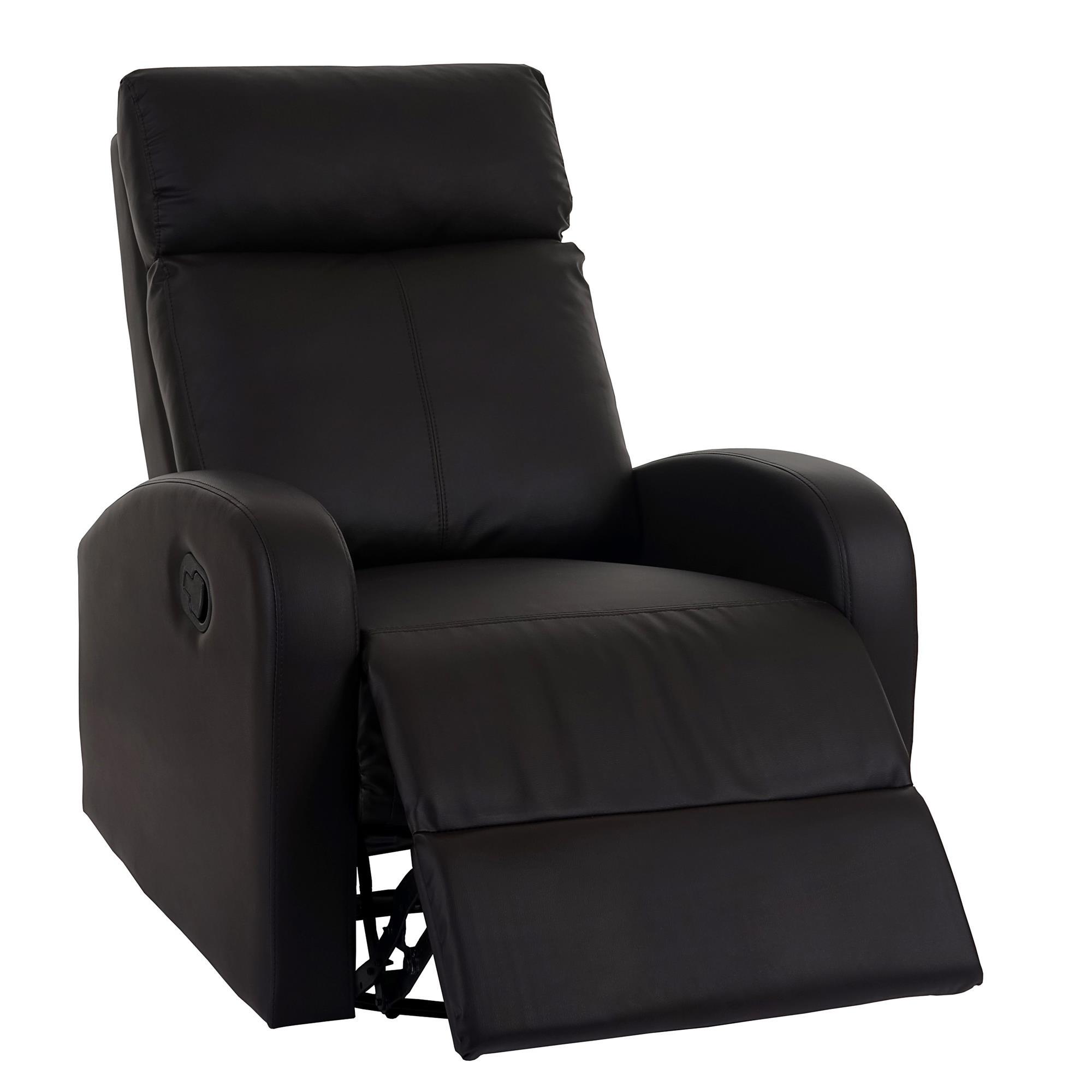 Sill n relax reclinable kartia premium en piel marr n - Sillon reclinable piel ...