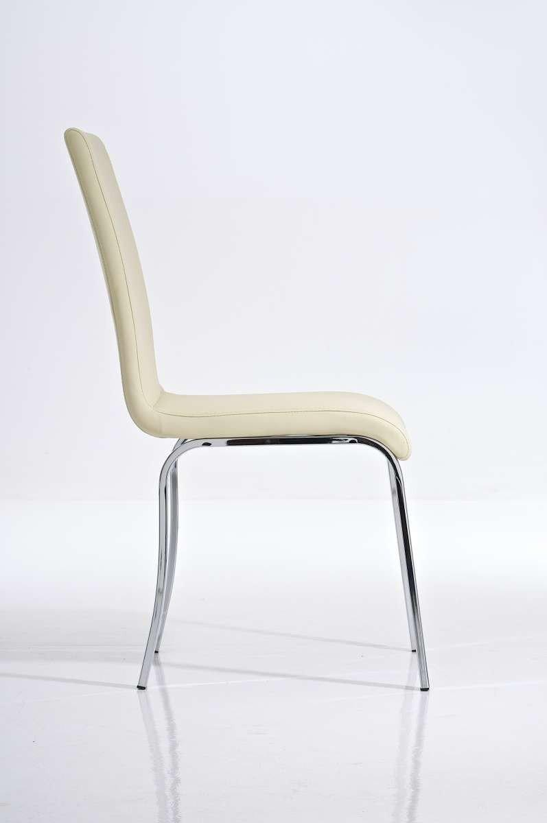 Silla de comedor c05 en polipiel color negro silla de for Sillas en piel para comedor