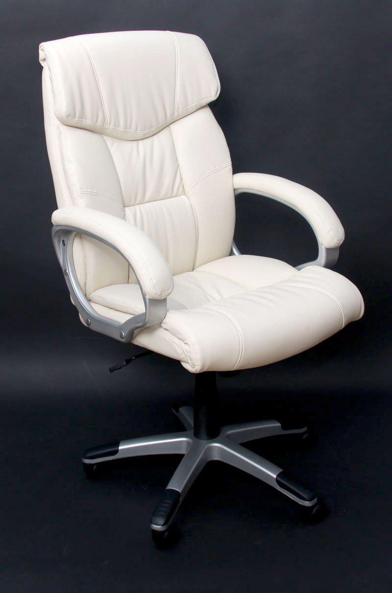 silla de oficina m61 respaldo alto en polipiel crema sillon de oficina santiago gran. Black Bedroom Furniture Sets. Home Design Ideas
