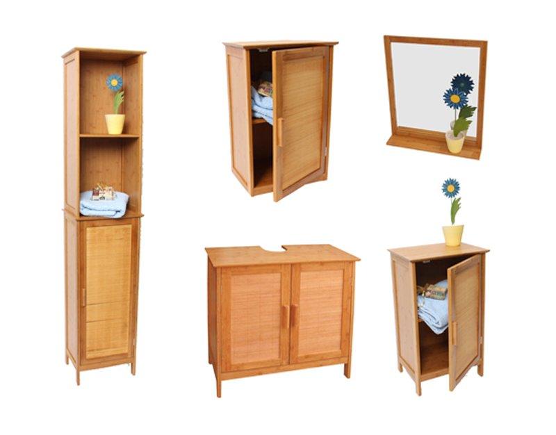 armario de ba o para lavabo en bamb mueble de ba o