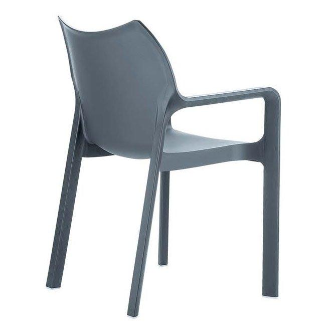 Silla de jard n apilable c43 en pl stico blanco silla - Sillas de jardin de plastico ...