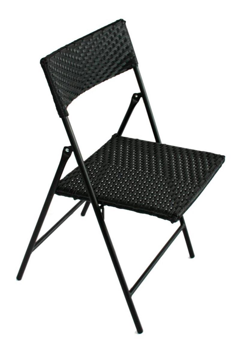 Conjunto Muebles de Jardín BISTRO 1 mesa + 2 sillas en mimbre