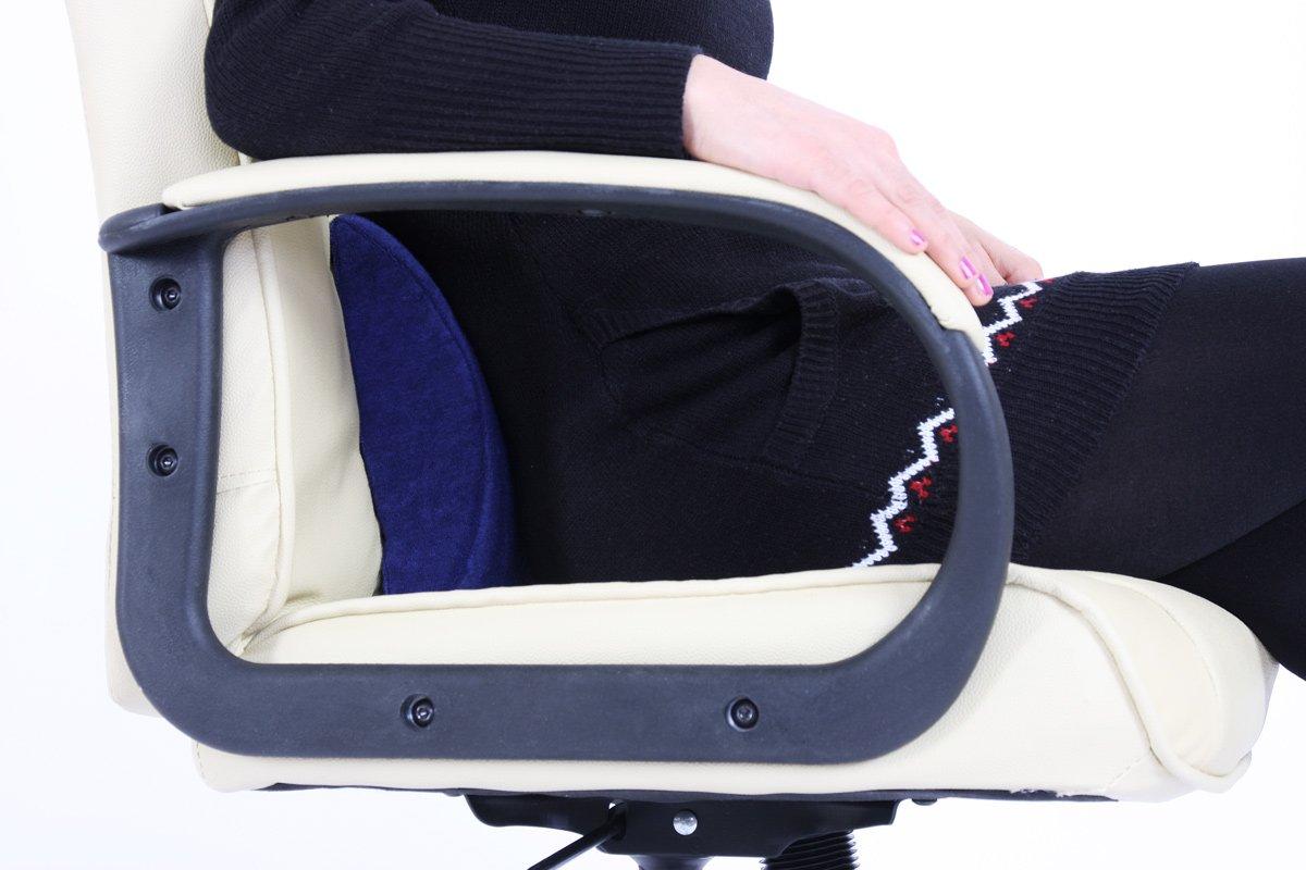 Almohada lumbar para sillas de oficina, 27x23x7cm - Cojín - almohada ...