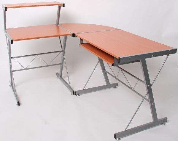 Escritorio mesa nevada color haya 100x115x140cm for Dimensiones mesa escritorio