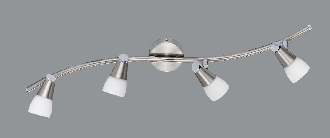 L mpara de techo con 4 puntos hal genos 70cm l mpara de - Halogenos de techo ...