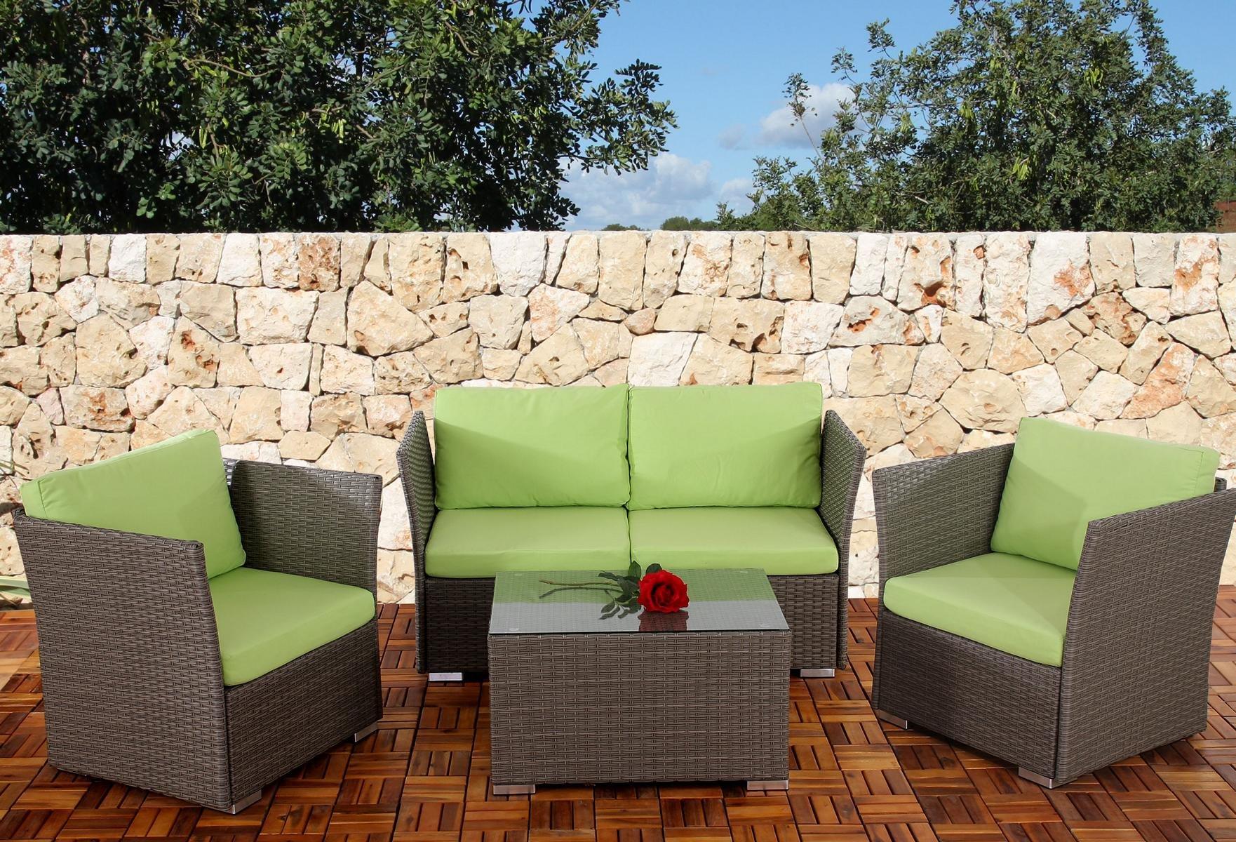 Conjunto De Jardin Siena Sofa 2 Sillones Mesa Modulares  ~ Cojines Para Sillones De Jardin