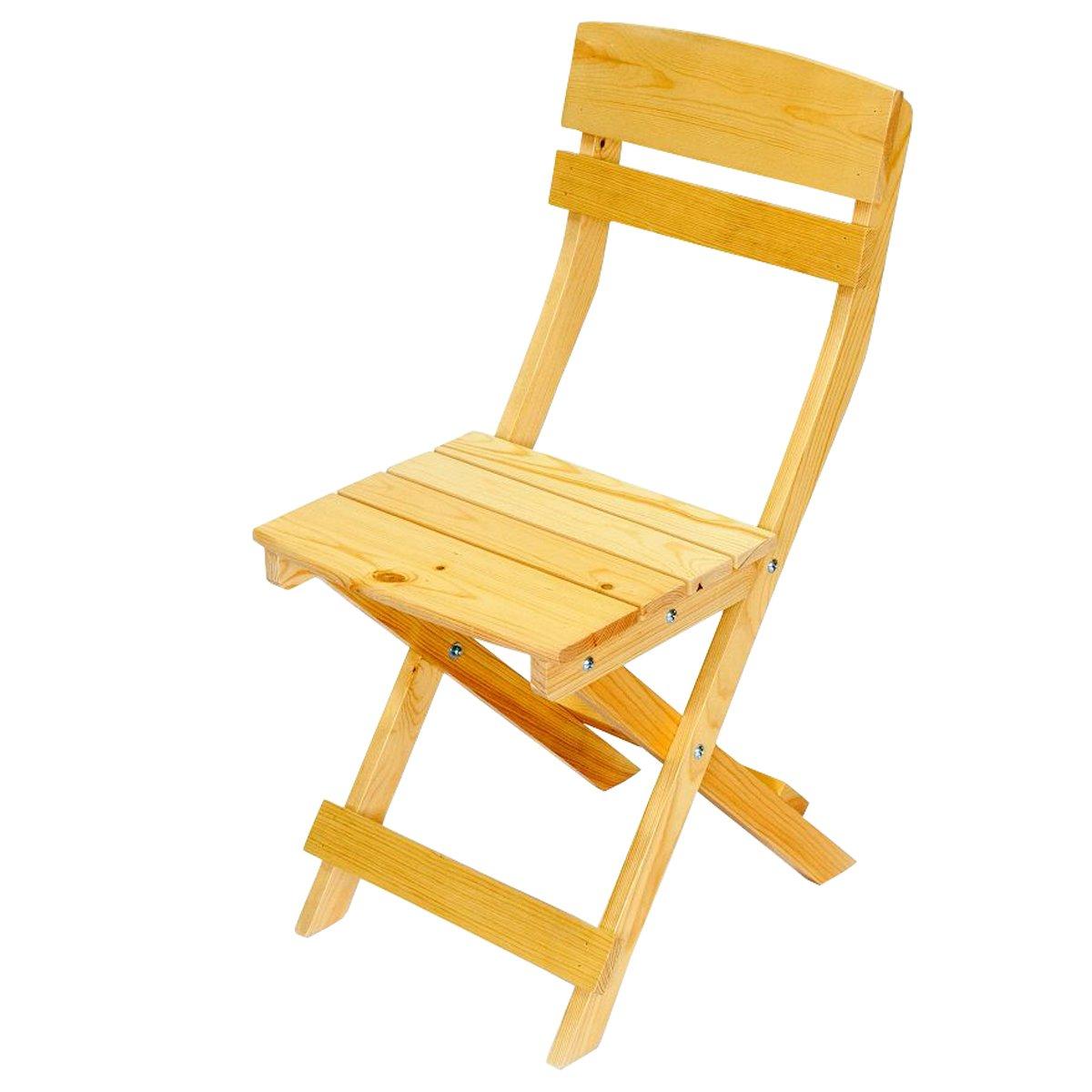 Lote de 2 sillas de jard n o terraza olbia en madera for Sillas de jardin plegables
