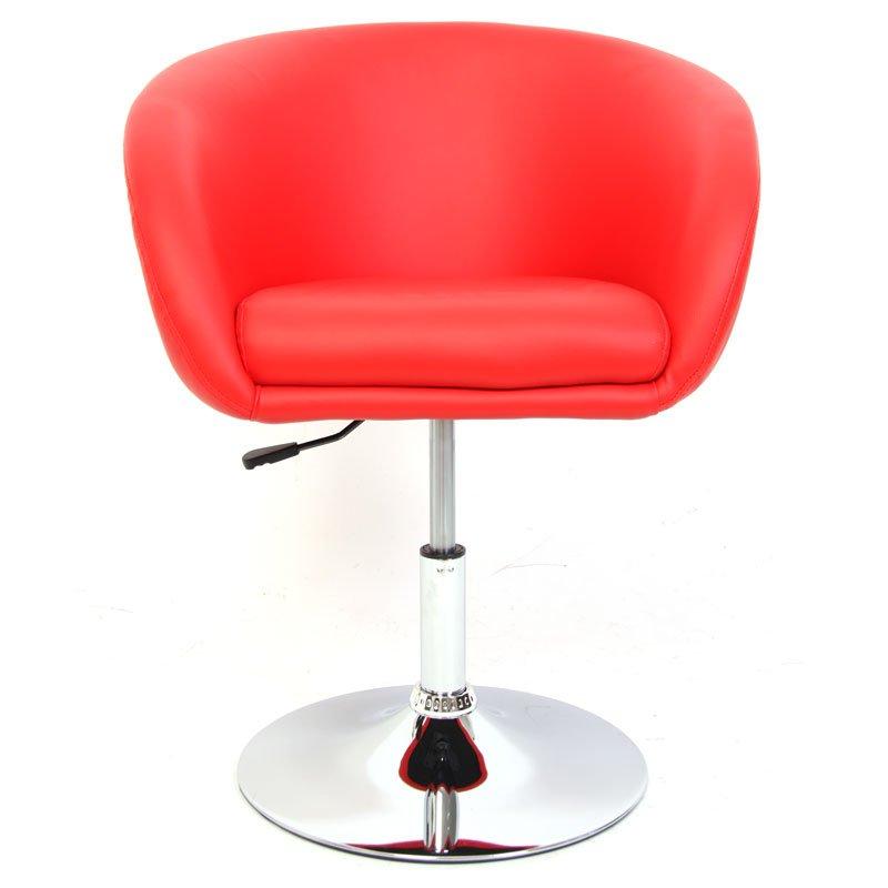 Silla comedor n39 altura regulable base met lica rojo for Altura silla