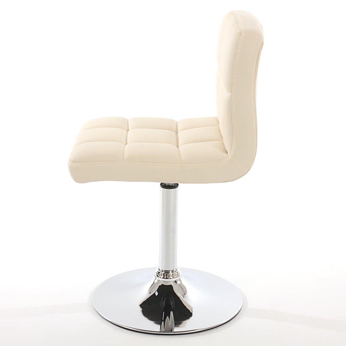 Conjunto dos sillas de comedor en piel genova crema for Sillas de comedor comodas