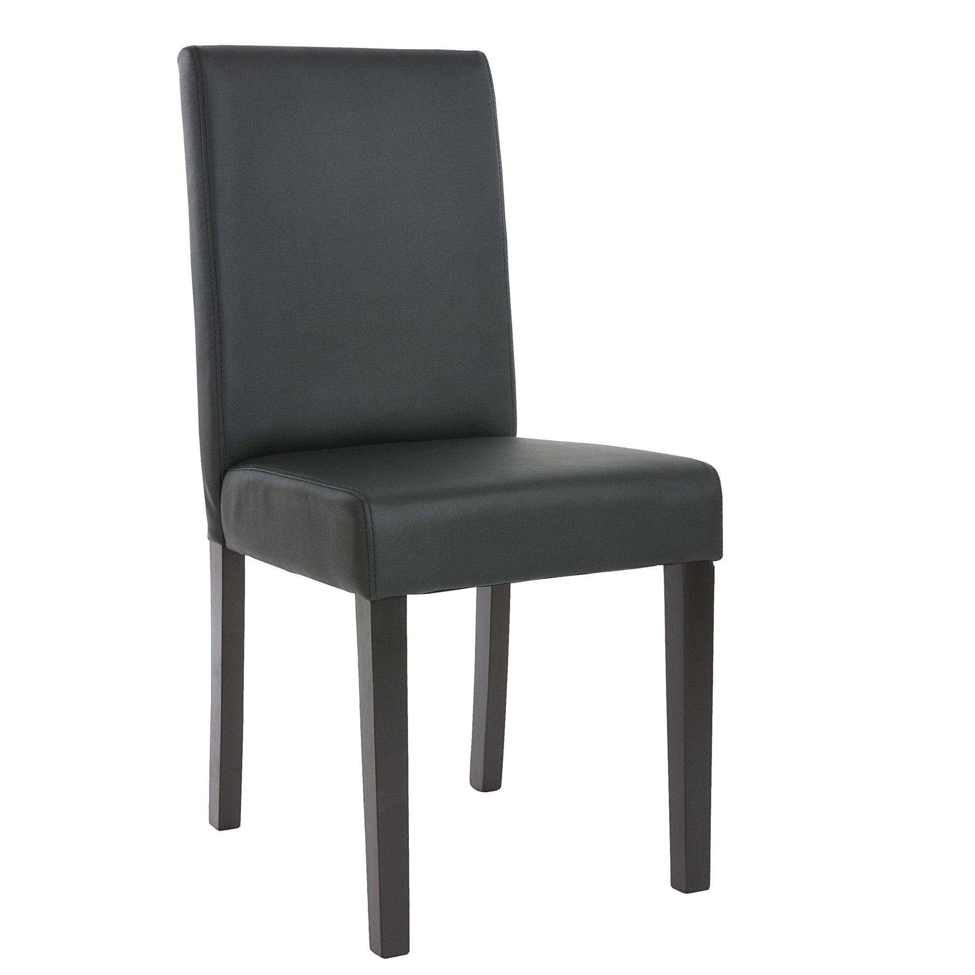 Lote 4 sillas de comedor litau piel mate negra lote 4 for Sillas de comedor tapizadas en piel