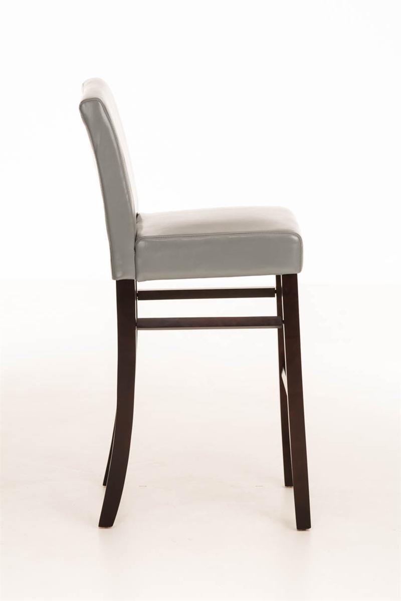 Taburete de madera IRENE, estructura en madera marrón, asiento y ...