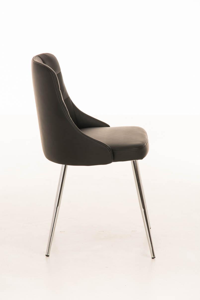 Lote 2 sillas de comedor o cocina harrison en piel negro for Sillas metalicas para comedor