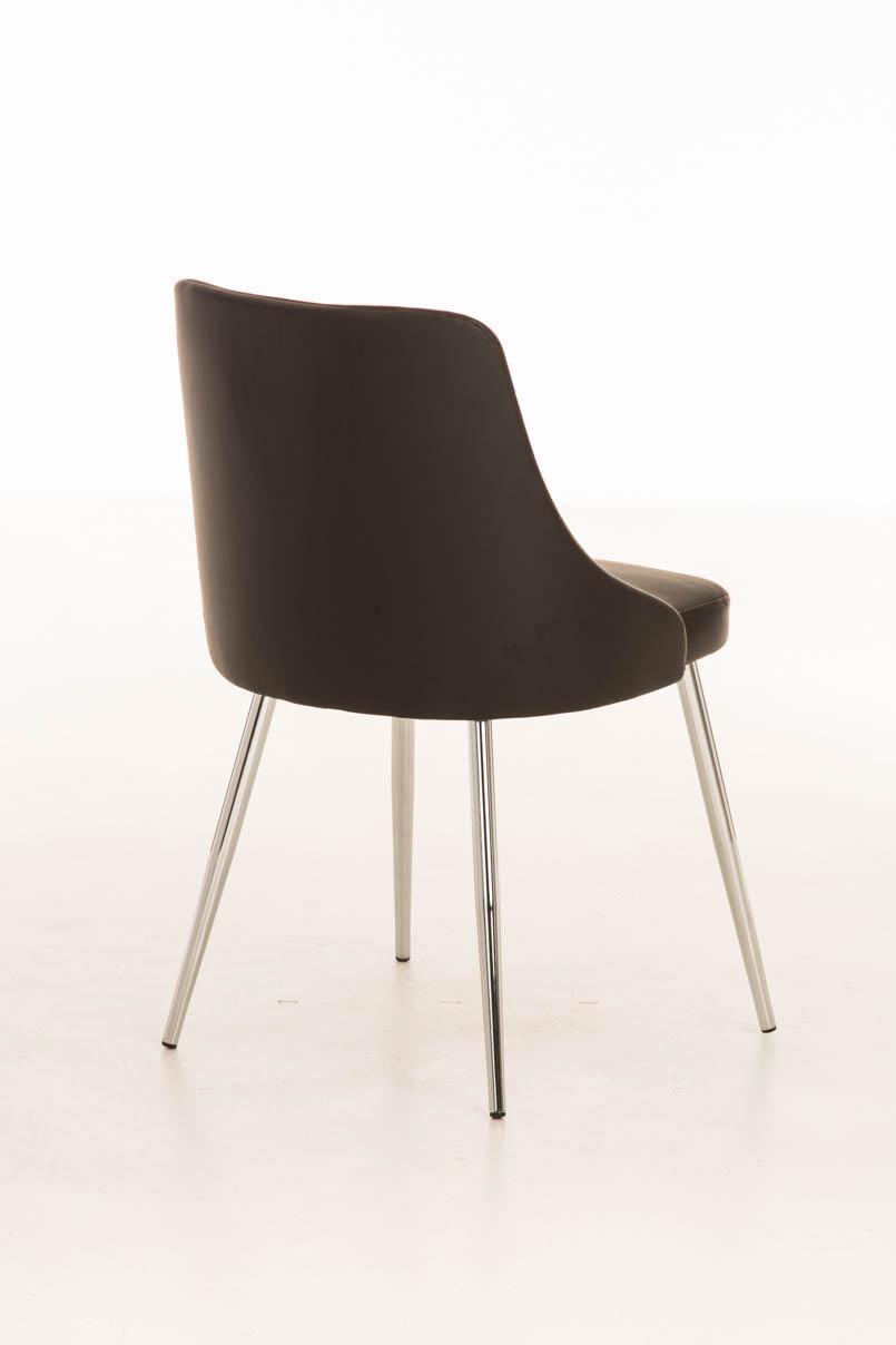 Lote 2 sillas de comedor o cocina harrison en piel marr n for Sillas metalicas para comedor