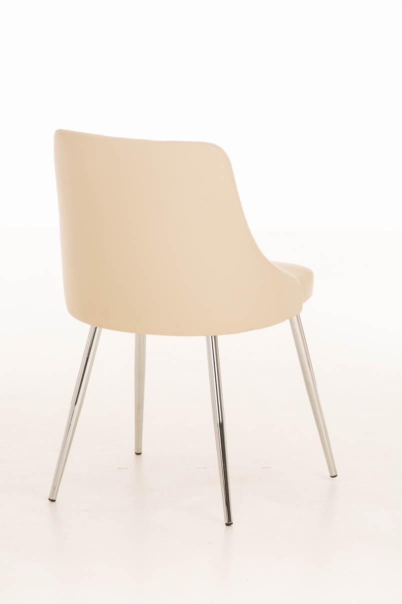 Lote 2 sillas de comedor o cocina harrison en piel crema for Sillas metalicas para cocina