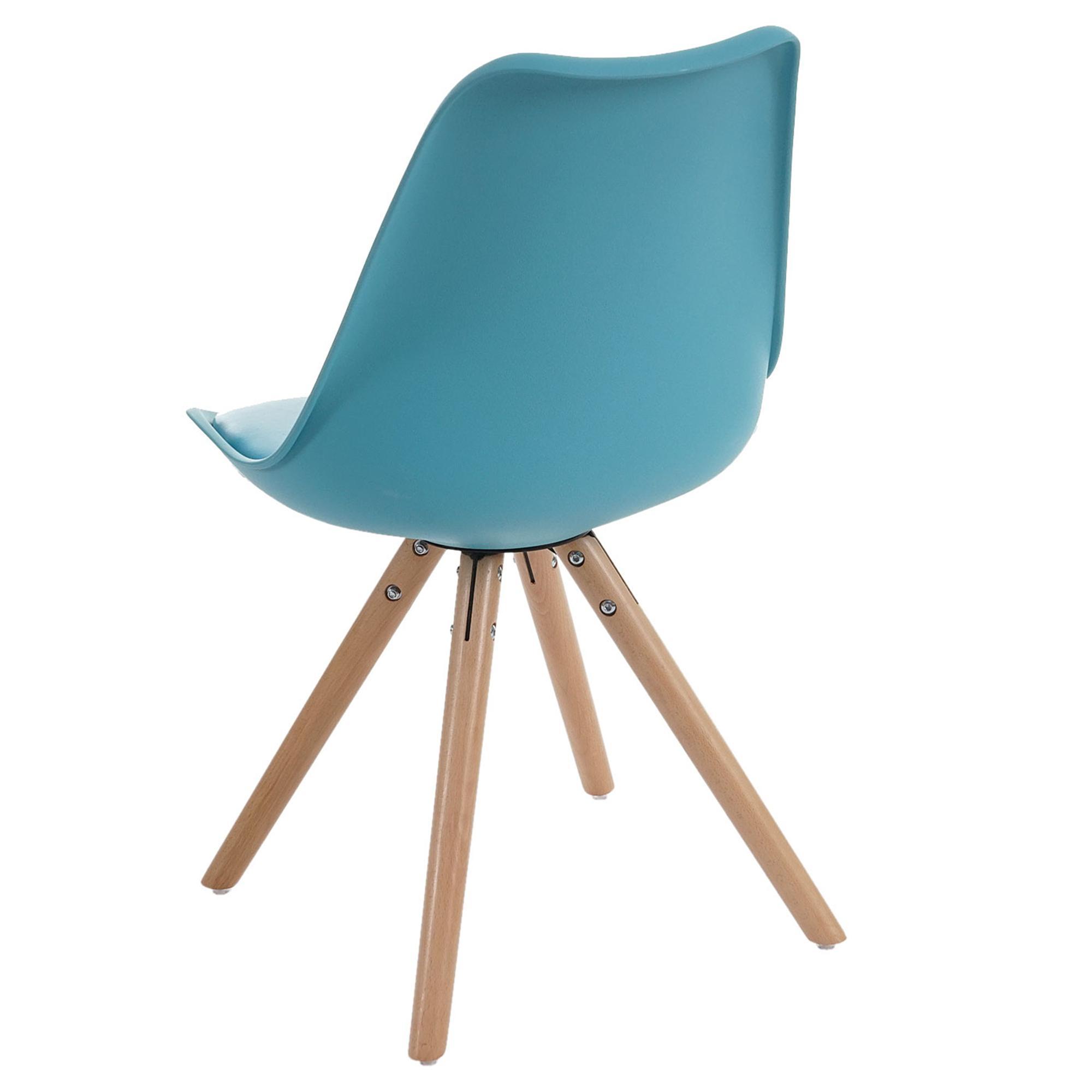 Lote 4 sillas carol en turquesa dise o moderno asiento for Sillas de diseno moderno