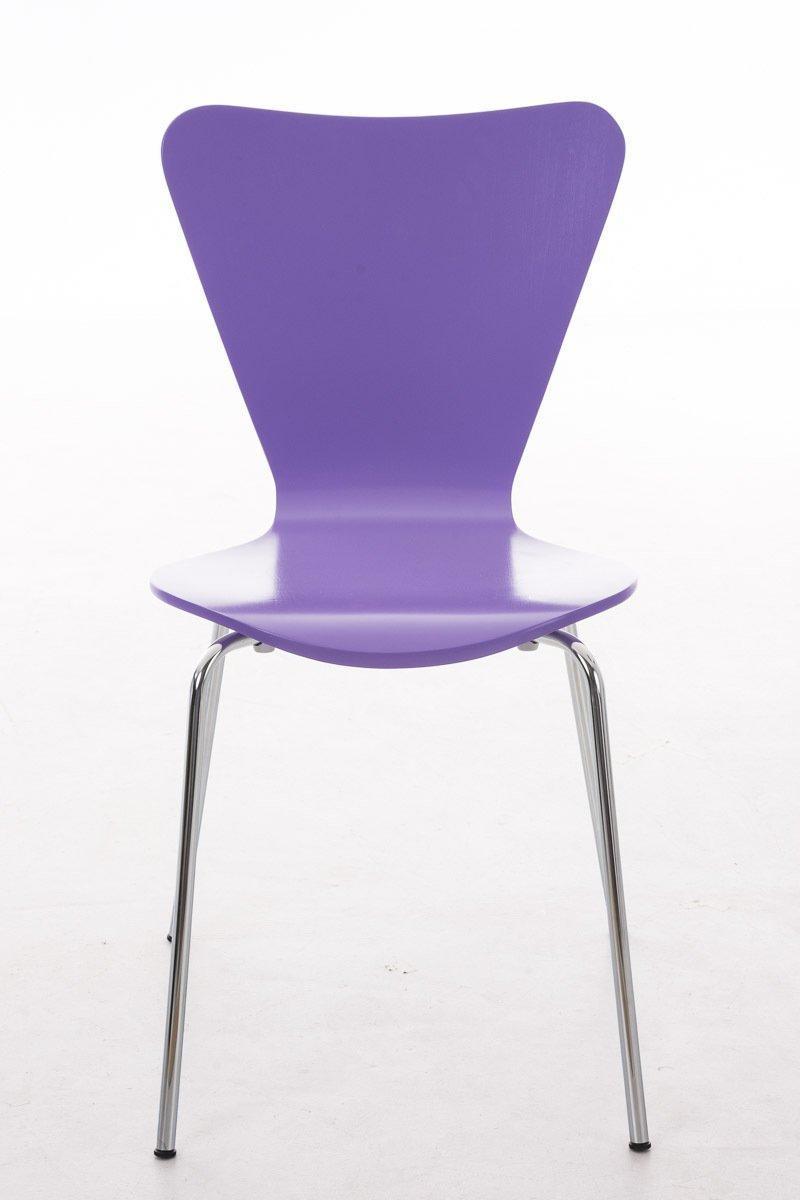 Lote 2 sillas de cocina o comedor lerma en morado lote 2 for Sillas comedor apilables
