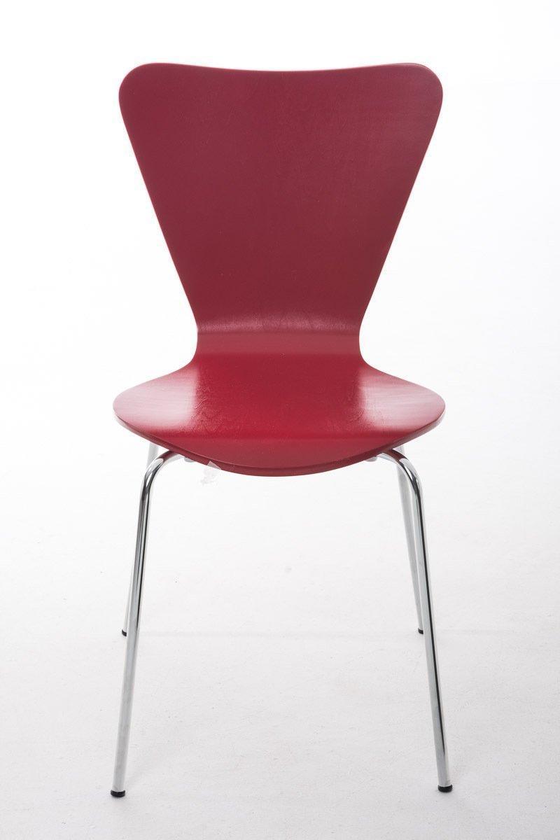 Lote 2 sillas de cocina o comedor lerma en rojo lote 2 for Sillas de comedor apilables