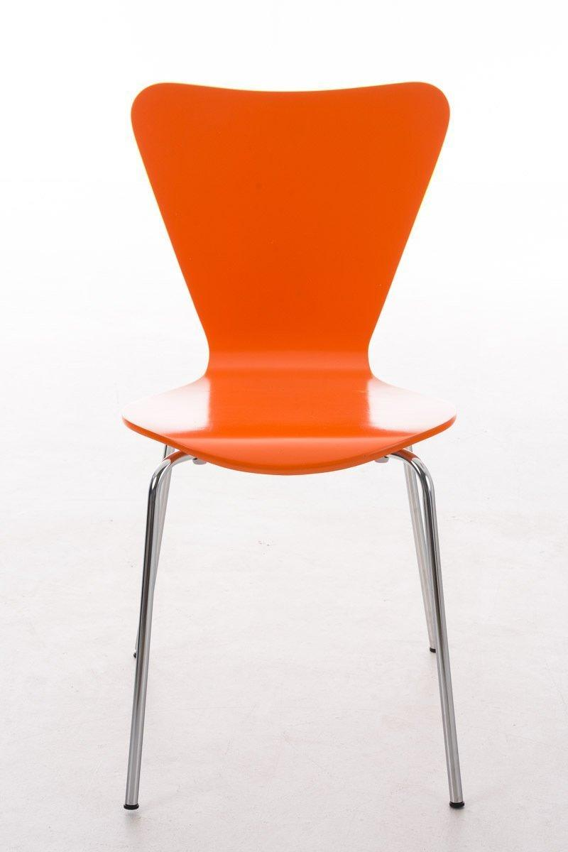 Lote 4 sillas de cocina o comedor lerma en naranja lote for Sillas apilables comedor
