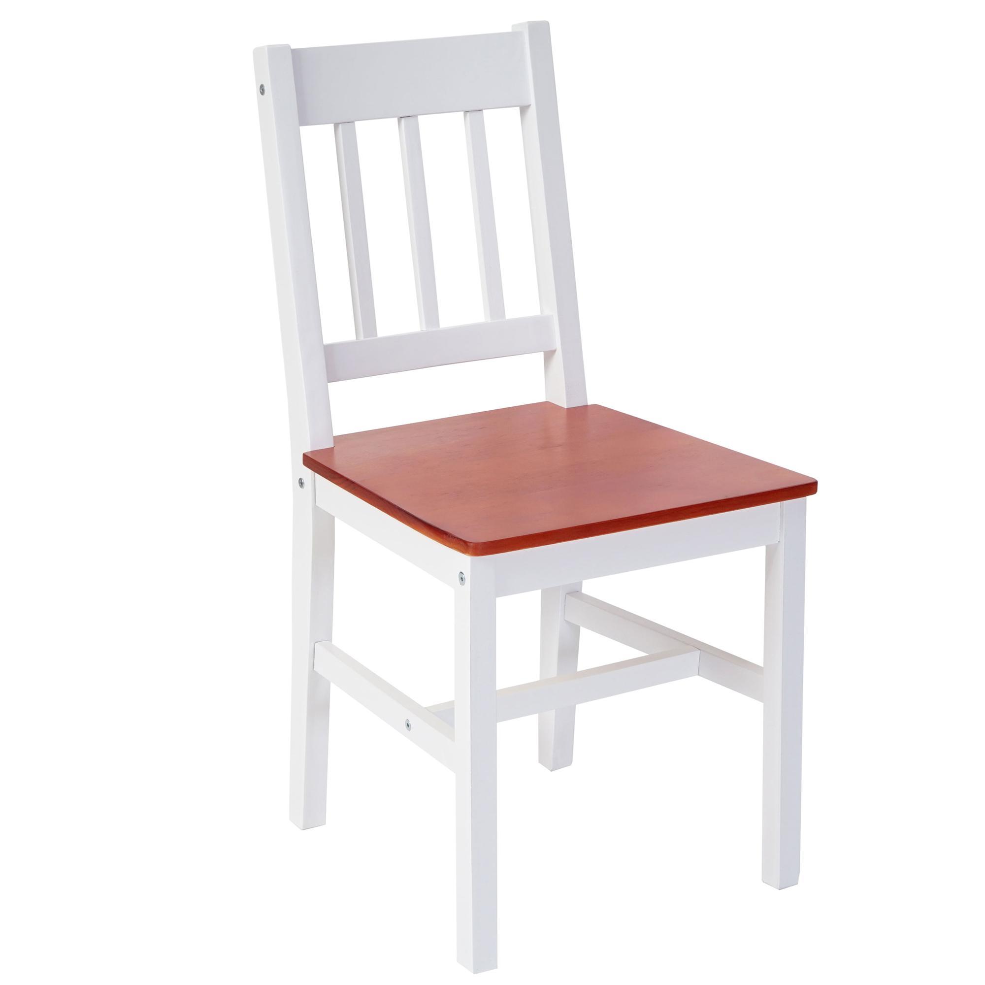 Lote 6 sillas de cocina o comedor nerja en blanco y marr n - Sillas cocina madera ...