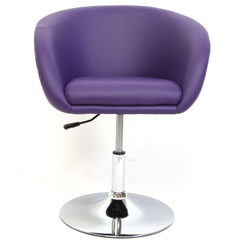 Silla comedor n39 altura regulable base met lica morada for Altura silla