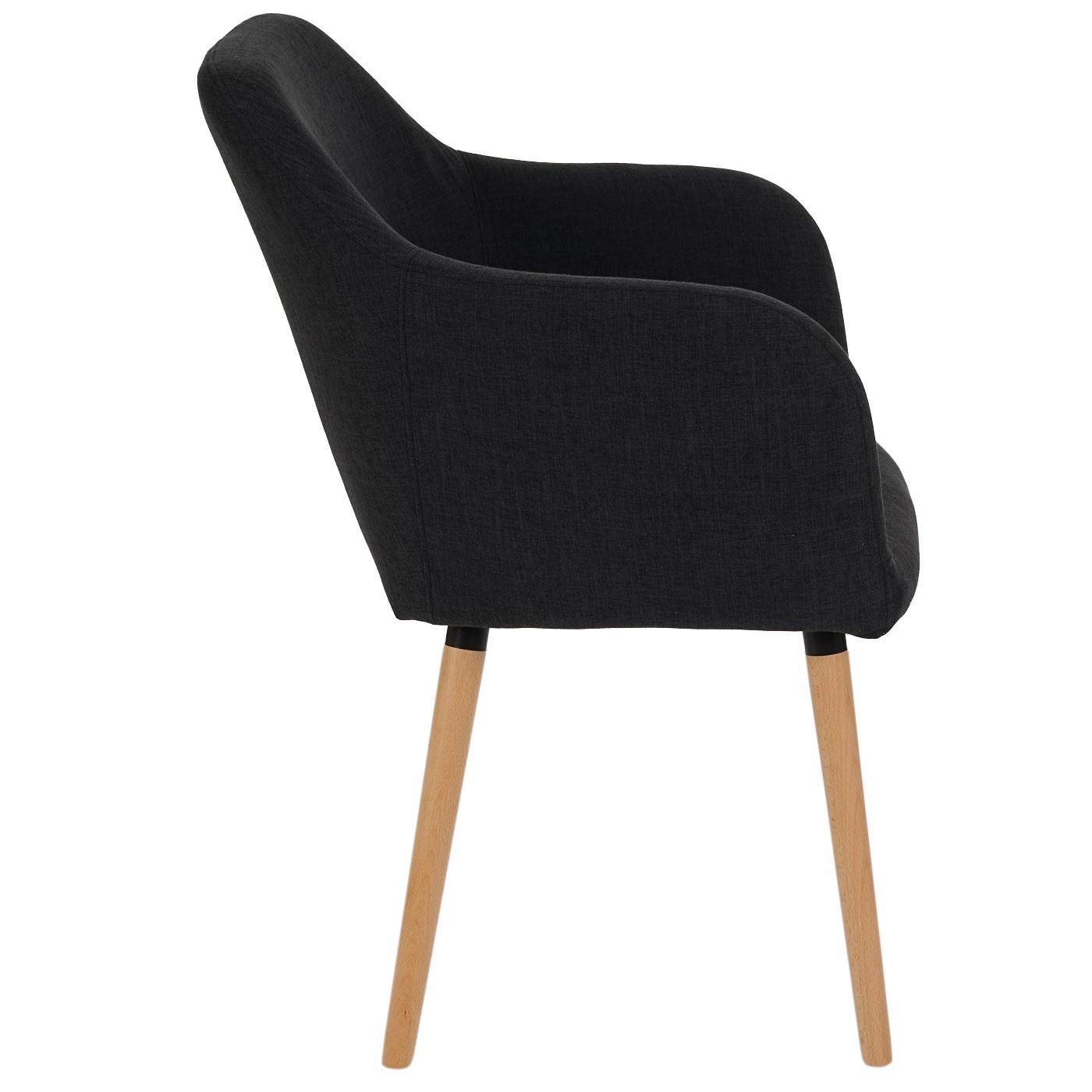 Lote de 6 sillas de comedor tulio tela tapizadas en for Sillas de comedor tapizadas en gris