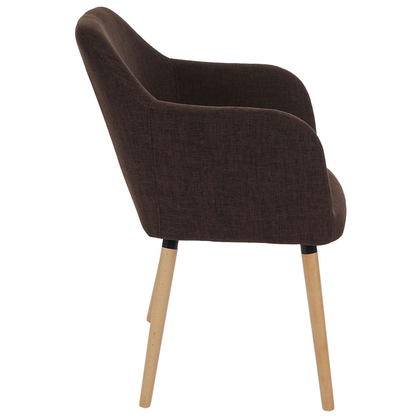 Lote de 4 sillas de comedor tulio tela tapizadas en for Sillas para comedor tapizadas en tela