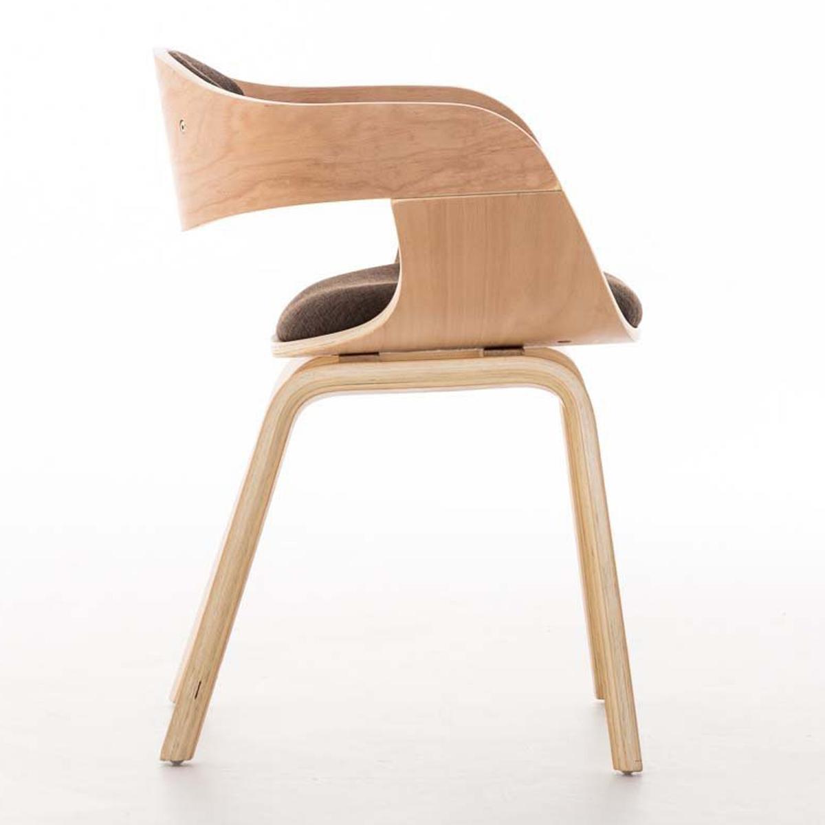 Silla de comedor bolonia tapizada en tela color marr n - Tela para sillas de comedor ...