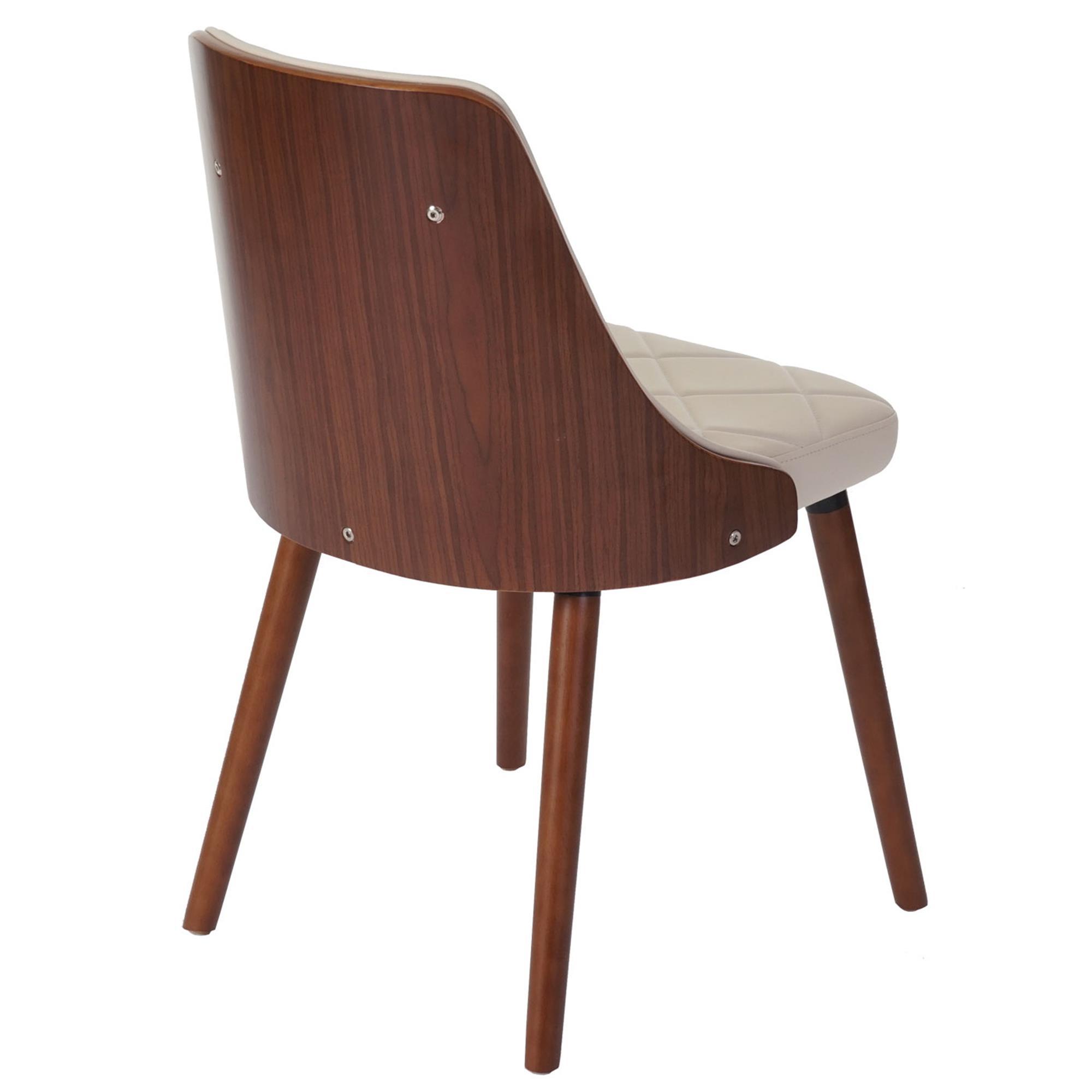 Lote 2 sillas de comedor baley en piel crema conjunto 2 for Sillas en piel para comedor