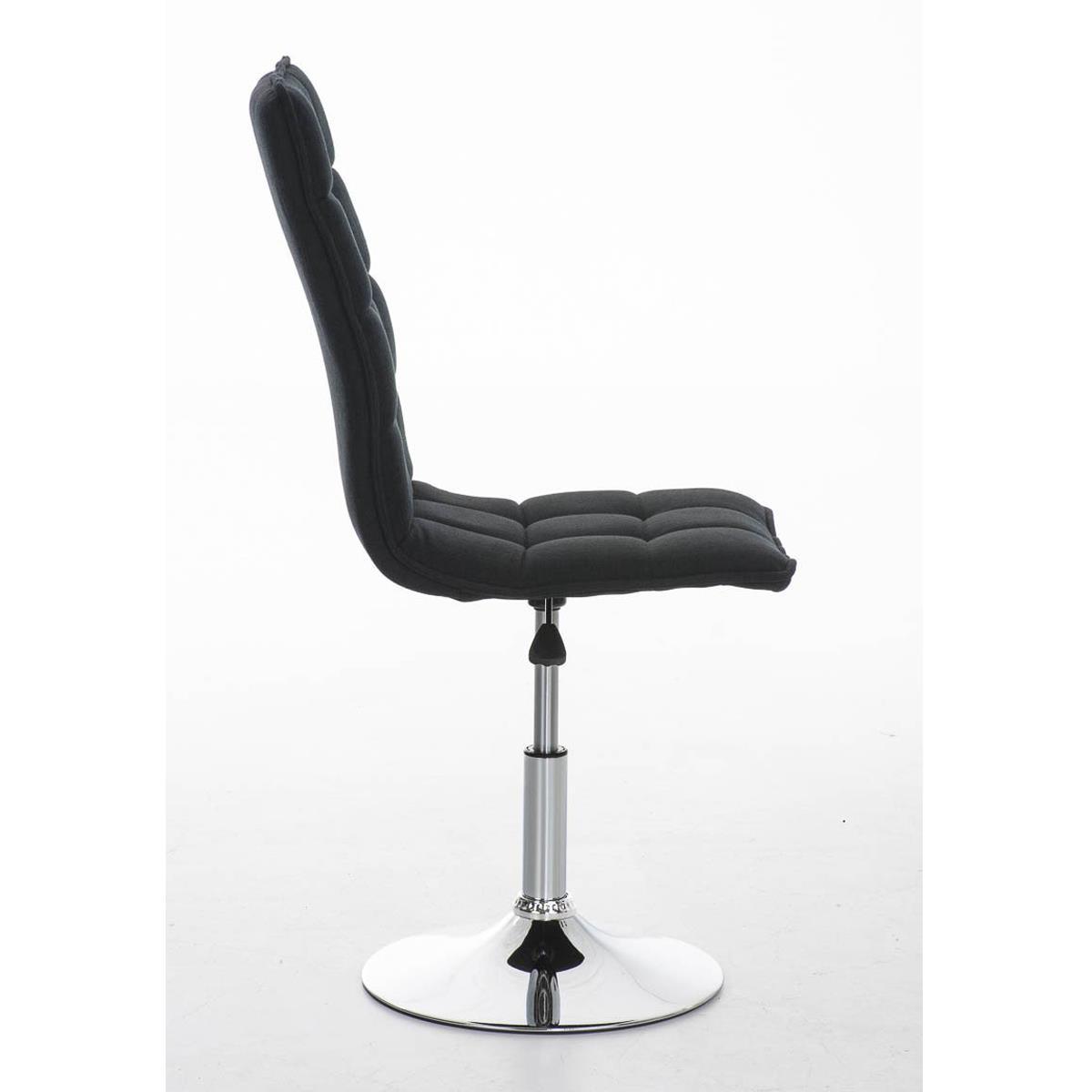 Silla de comedor o cocina pescara en tela color negro - Telas para sillas de cocina ...