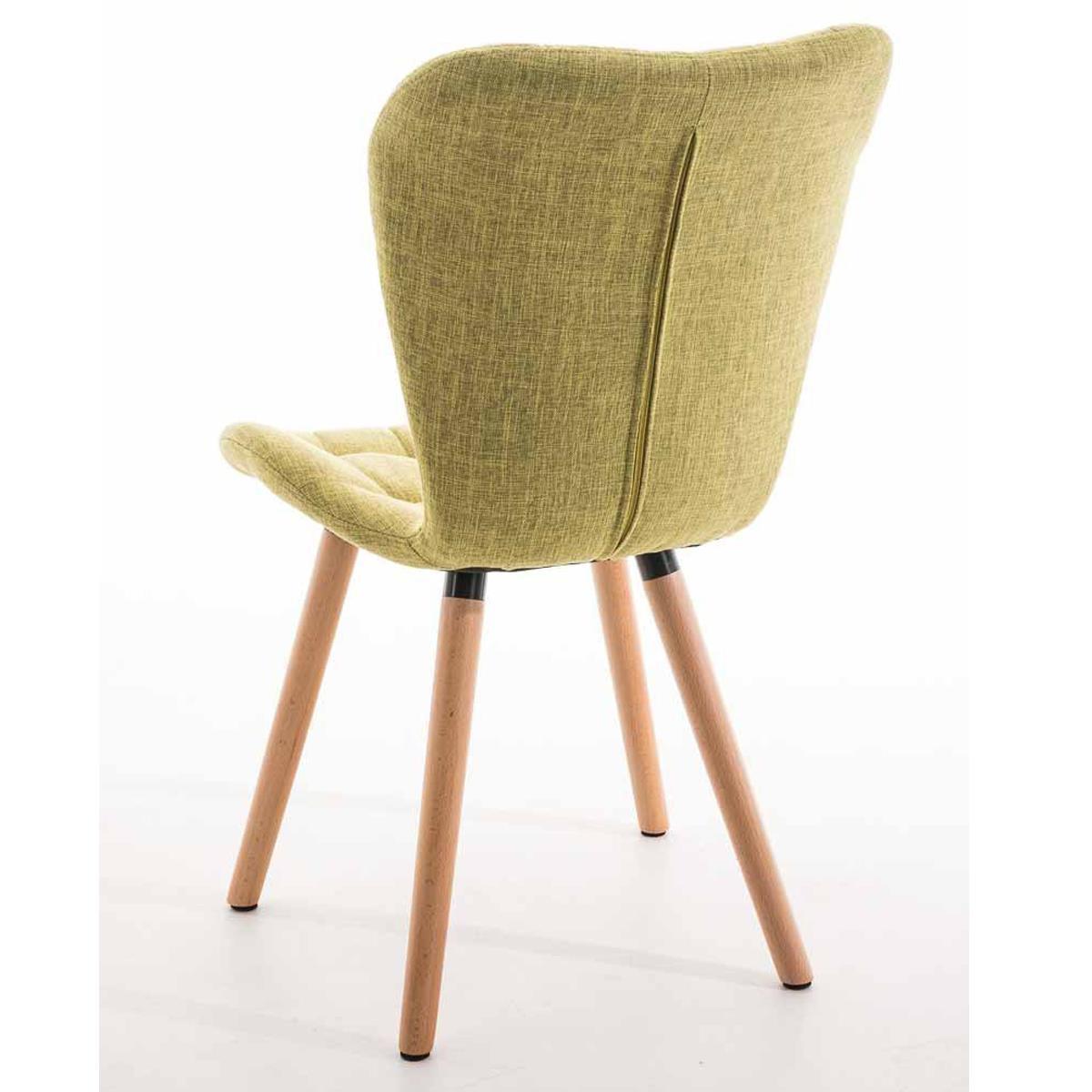 Silla de comedor padua con capiton y tapizada en tela - Tela para sillas de comedor ...